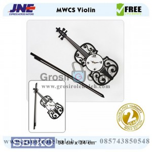 Jam dinding MWCS Violin Garansi Seiko 2 Tahun