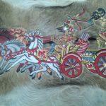 Wayang Kulit Kereta Perang Arjuna dan Krisna Pada Perang Baratayudha Mahabharata