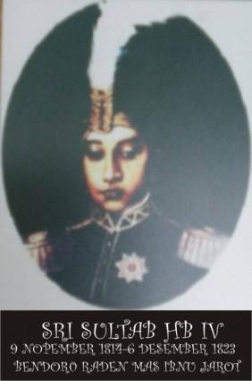 Raja Keraton Yogyakarta Sultan Hamengku Buwono IV