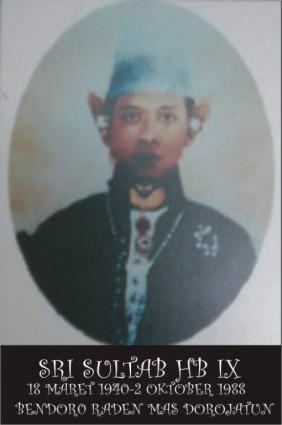 Raja Keraton Yogyakarta Sultan Hamengku Buwono IX