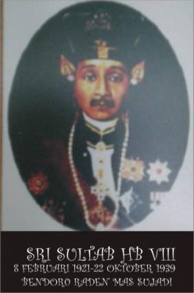 Raja Keraton Yogyakarta Sultan Hamengku Buwono VIII