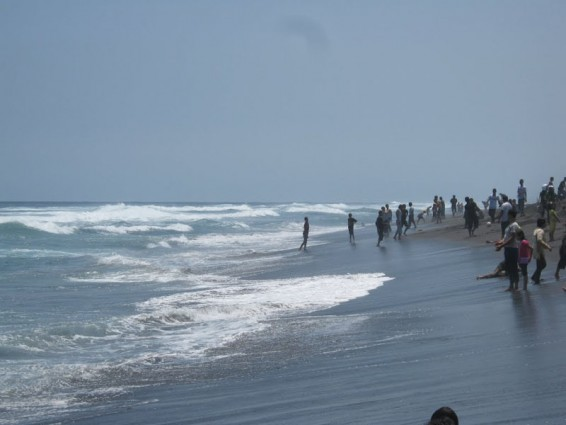 Kesejukan Pantai Glagah Indah Dengan Keindahan Laguna di Kulonprogo