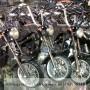 Parkiran Miniatur Motor Harley Davidson dari Logam Khas Yogyakarta