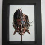 Frame Putra Bali Antik, Artistik, terbuat dari Besi Cor Tembaga dan Kuningan Cocok untuk Kado, Cindera Mata, Koleksi, Penghargaan, Dekorasi Rumah