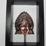 Frame Putri Bali Antik, Artistik, terbuat dari Besi Cor Tembaga dan Kuningan Cocok untuk Kado, Cindera Mata, Koleksi, Penghargaan, Dekorasi Rumah